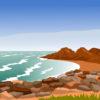Rocky Coast Powerpoint Backgrounds
