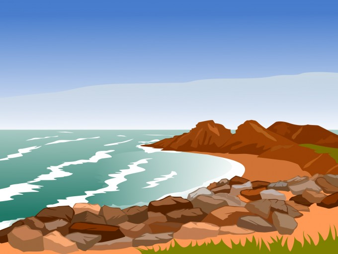 Rocky Coast PPT Backgrounds