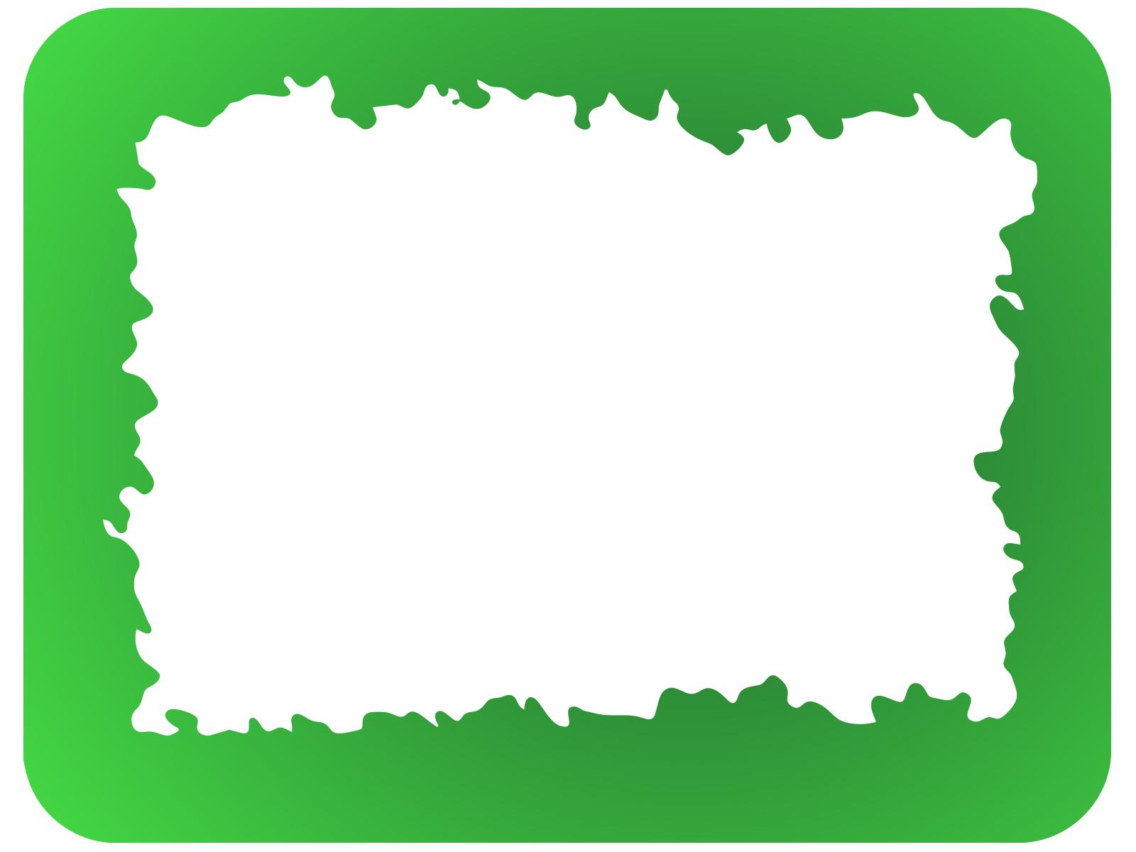 Slime Border PPT Backgrounds