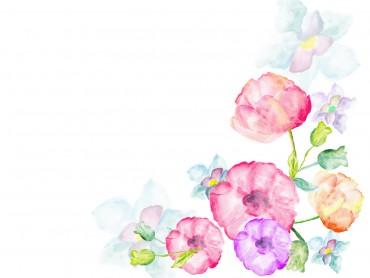 Watercolor flowers greetings