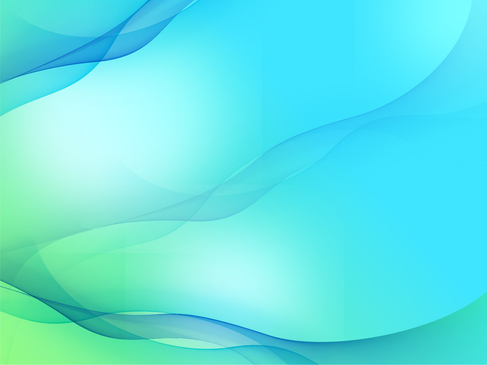 Abstract smooth wave backgrounds abstract blue green for Free slide templates