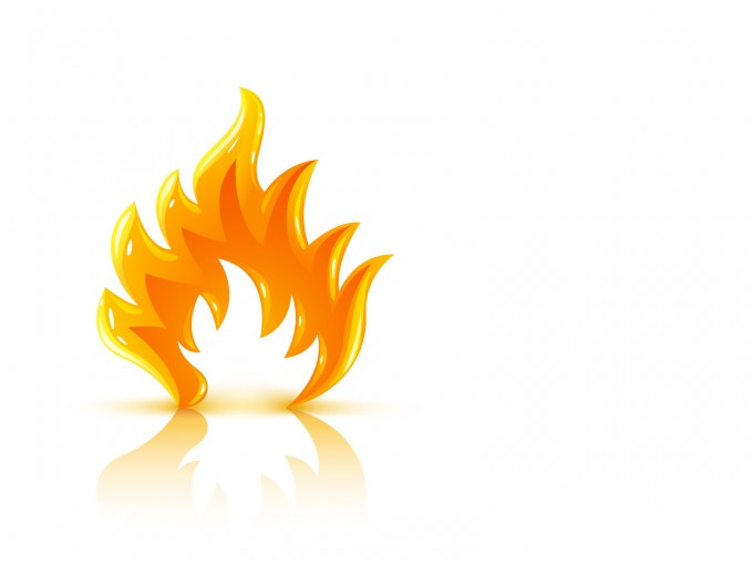 Glossy Burning Fire Flame PPT Backgrounds