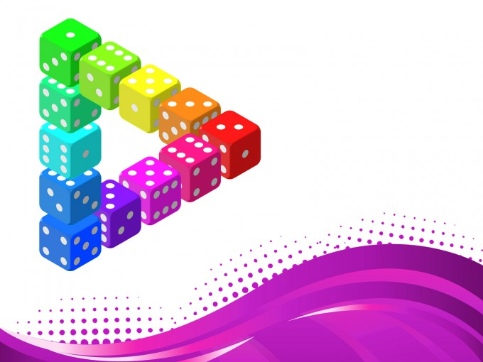 Impossible Dice Triangle PPT Backgrounds