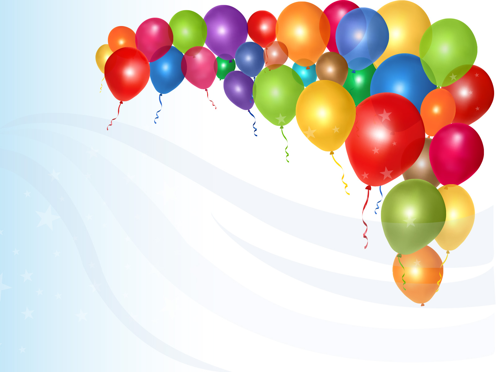 Shiny Colorful Balloons Ppt Backgrounds Blue Design