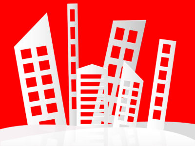 Abstract buildings ppt backgrounds