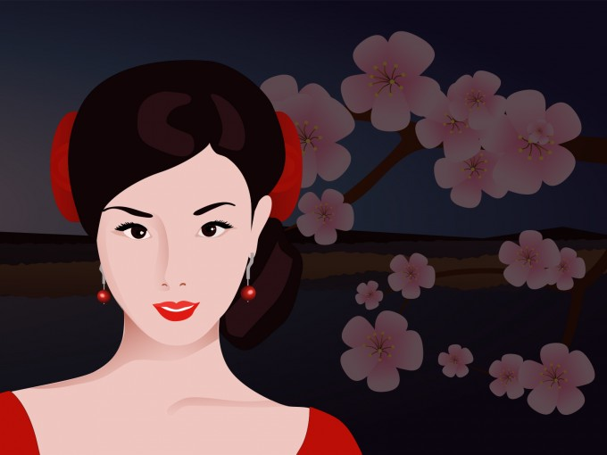 Asian Woman PPT Backgrounds