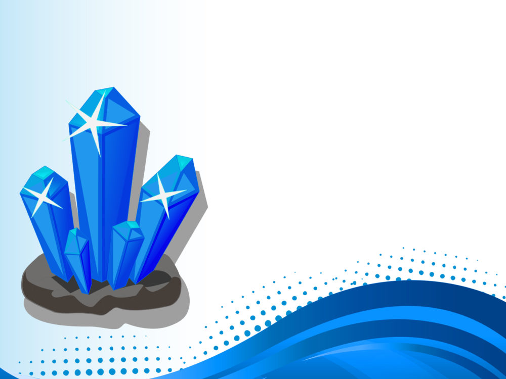 3d crystal ppt backgrounds - 3d, blue templates - ppt grounds, Powerpoint templates