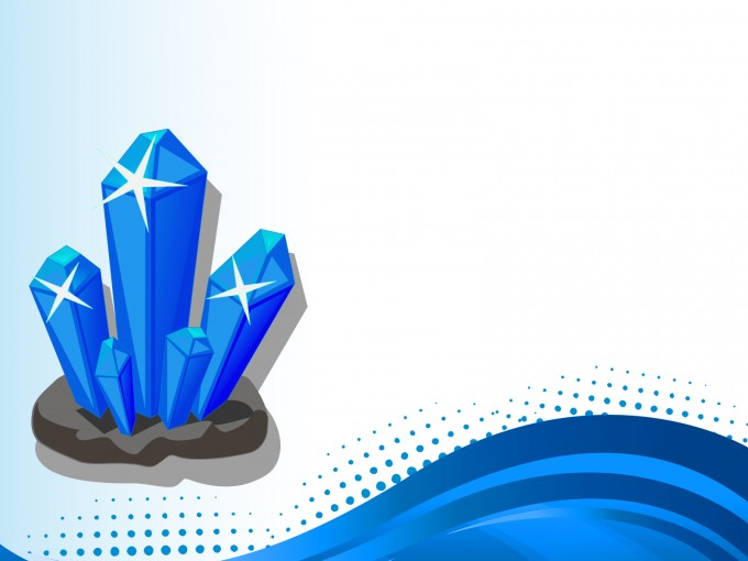 3D Crystal PPT Backgrounds