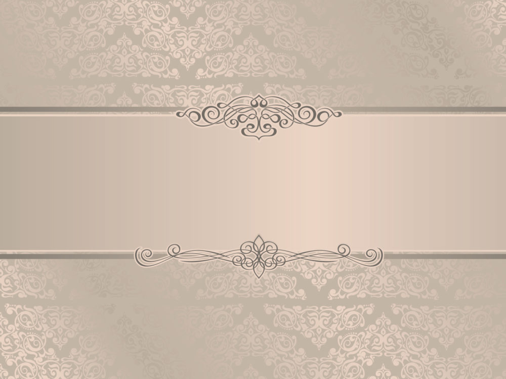 Elegant Wedding Invitation Ppt Backgrounds  Beige Border  Frames