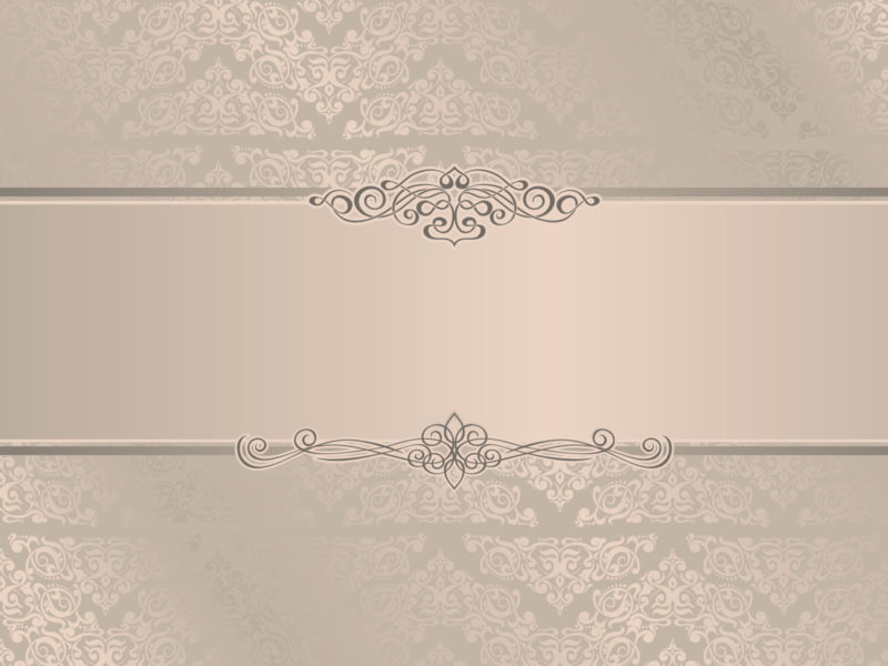 Elegant Wedding Invitation Backgrounds - Beige, Border & Frames