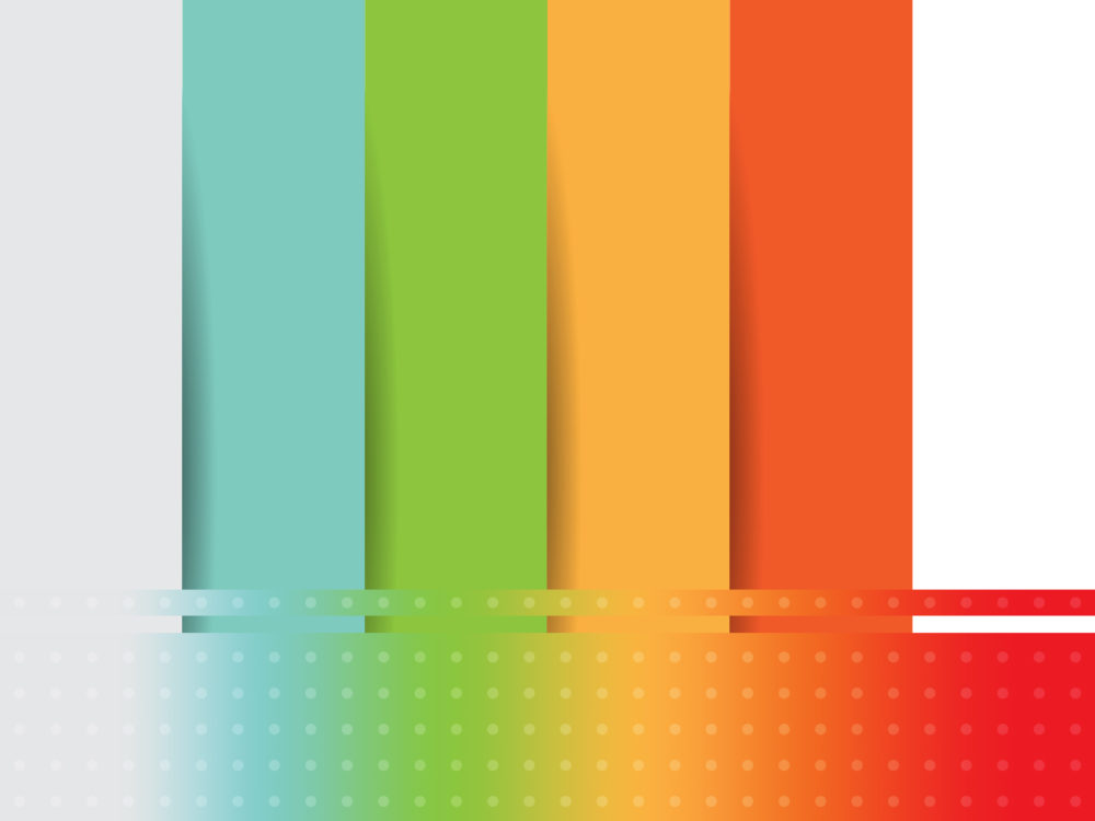 Rainbow Papercut Backgrounds Abstract Green Orange Templates