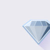 Single Blue Diamond PPT Template
