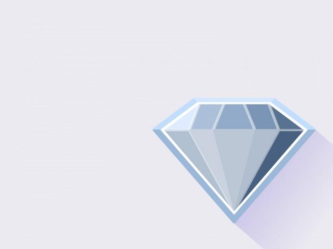 Single Blue Diamond PPT Backgrounds