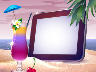 Summer Sunset Tropical PPT Backgrounds