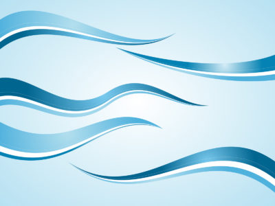 Abstract blue waves powerpoint template