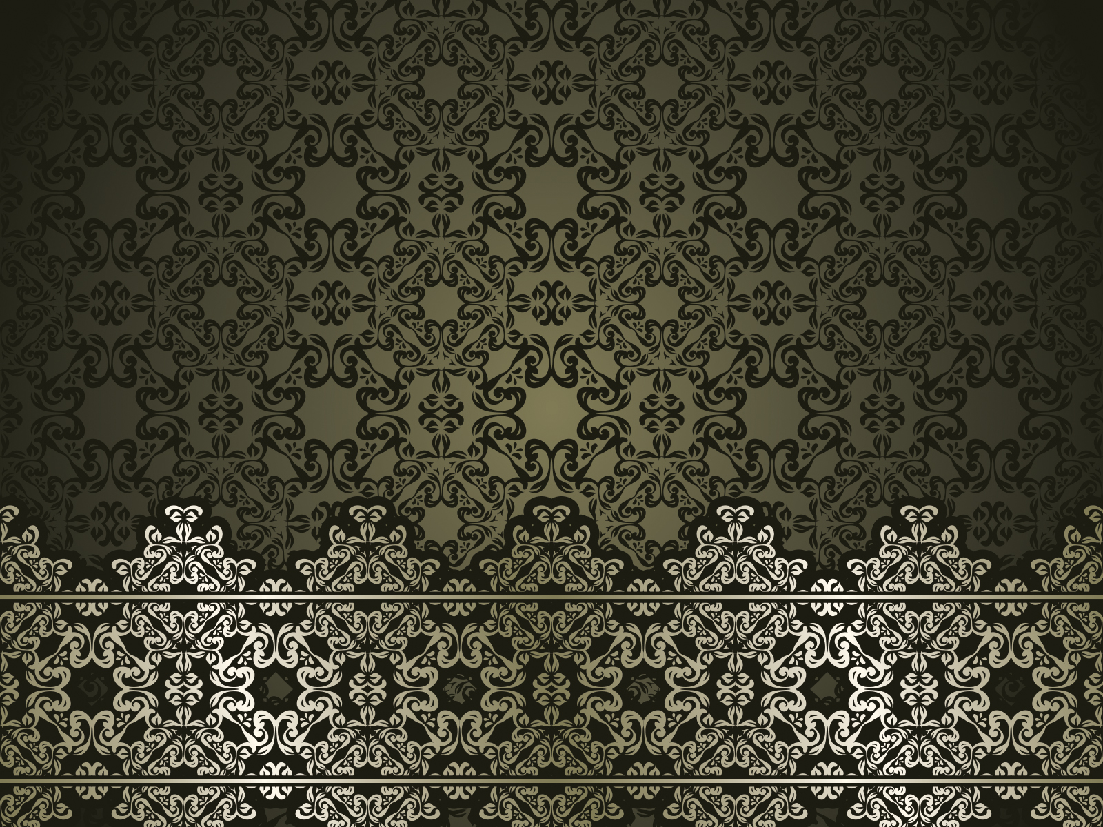 Classic Antique Art Ppt Backgrounds Black Pattern