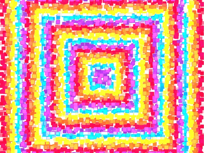 Concentric Squares Explosion PPT Backgrounds