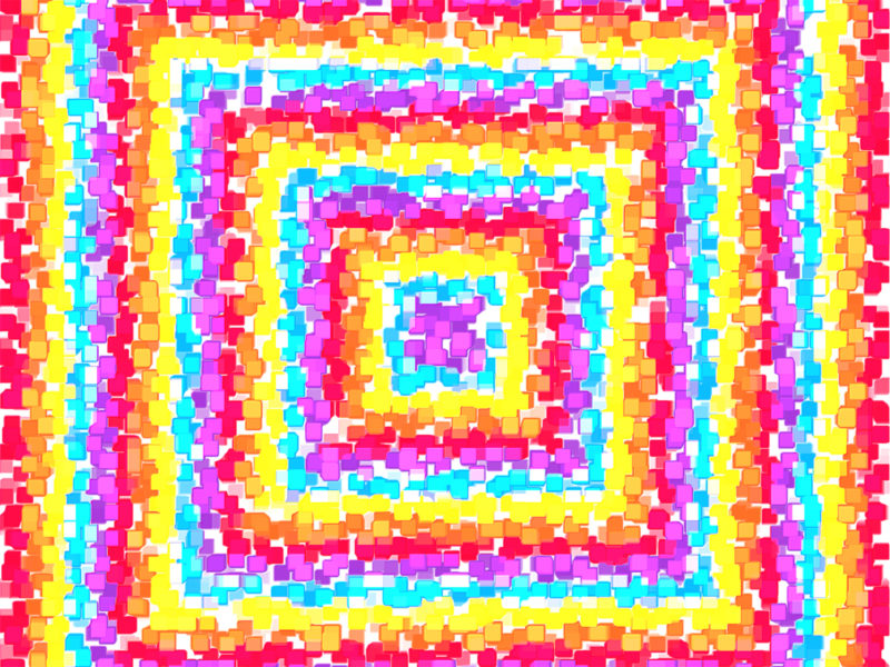 Concentric Squares Explosion Backgrounds