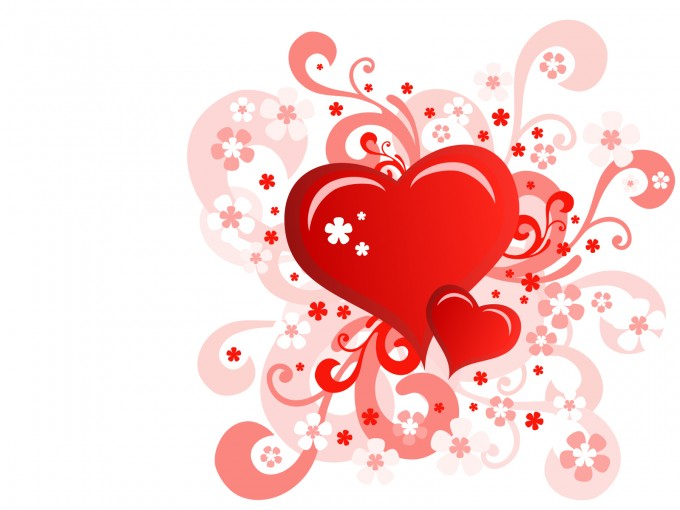 Floral Heart Valentine Day PPT Backgrounds