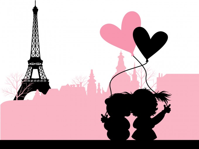 Love in Paris France PPT Backgrounds