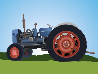Old Tractor PPT Backgrounds