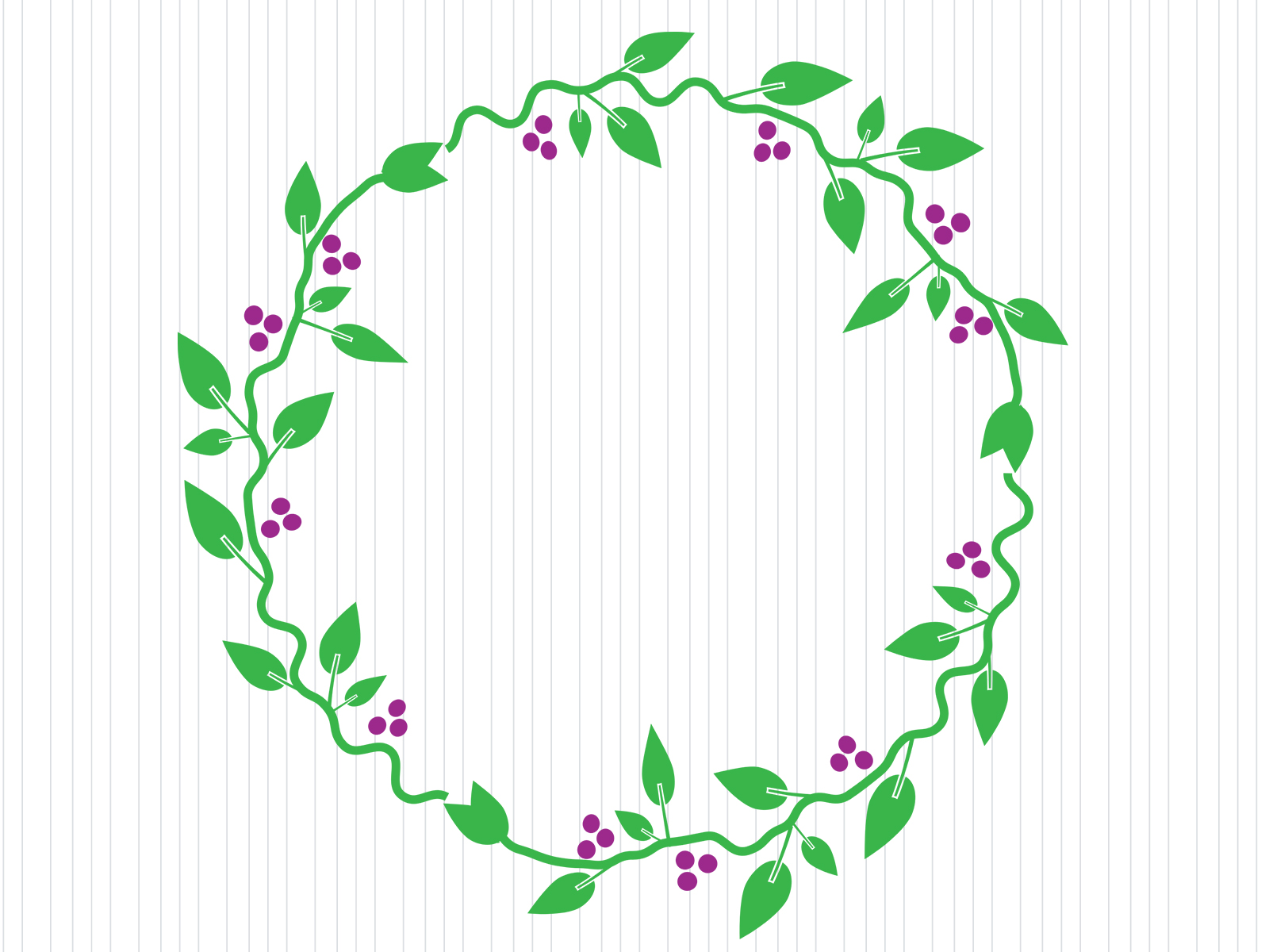 Oval Flowers Frame Backgrounds - Border & Frames, Flowers, Green - PPT ...