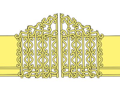 Pearly Gates PPT Backgrounds
