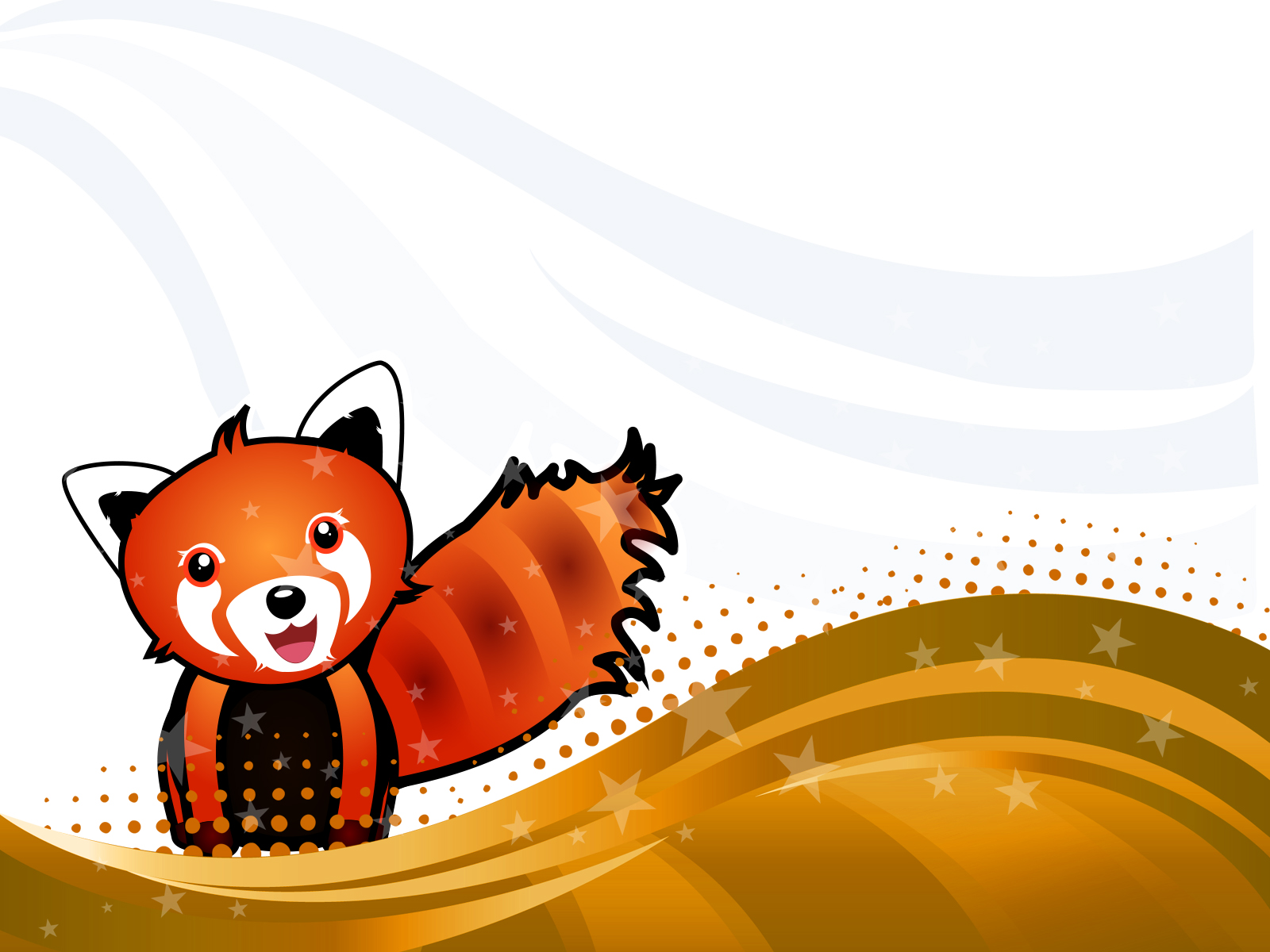 Red Panda PPT Backgrounds