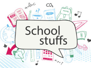 School Stuffs Supplies Backgrounds