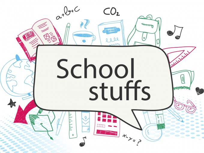 School Stuffs Supplies PPT Backgrounds