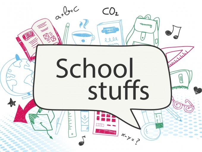School Stuffs Supplies PPT Backgrounds