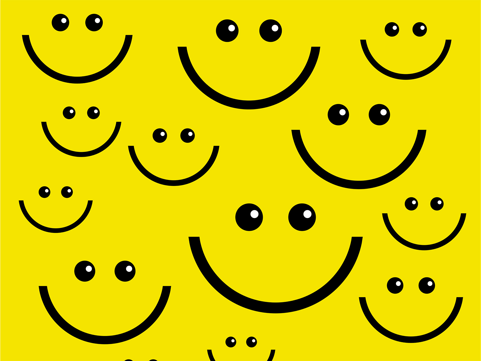 Smile Face Backgrounds Black Design Yellow Templates