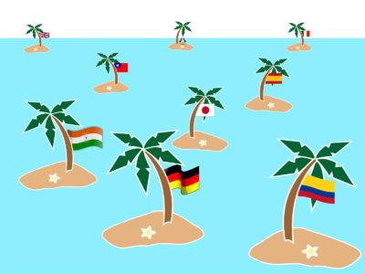 Islands Languages PPT Backgrounds