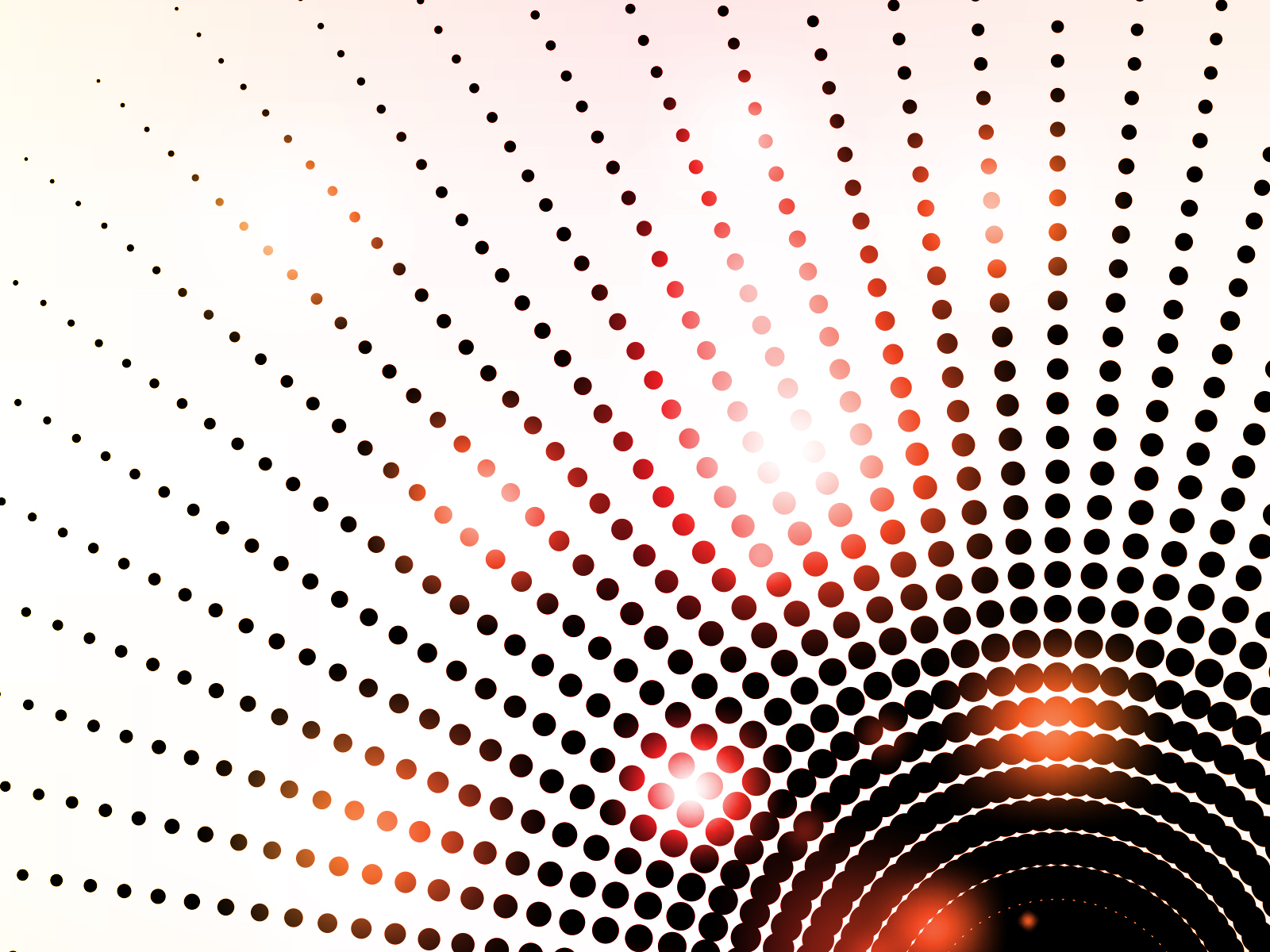 Radial Dotted Lights Backgrounds 3d Black Red