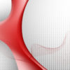 Red Curve Shape PPT Backgrounds