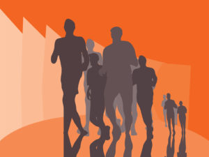 Running Marathon PPT Backgrounds