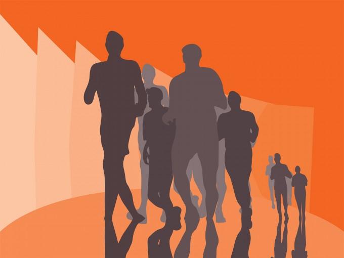 Running Marathon PPT Backgrounds