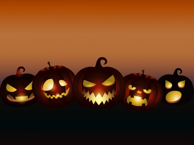 Evil Pumpkins Halloween PPT Backgrounds