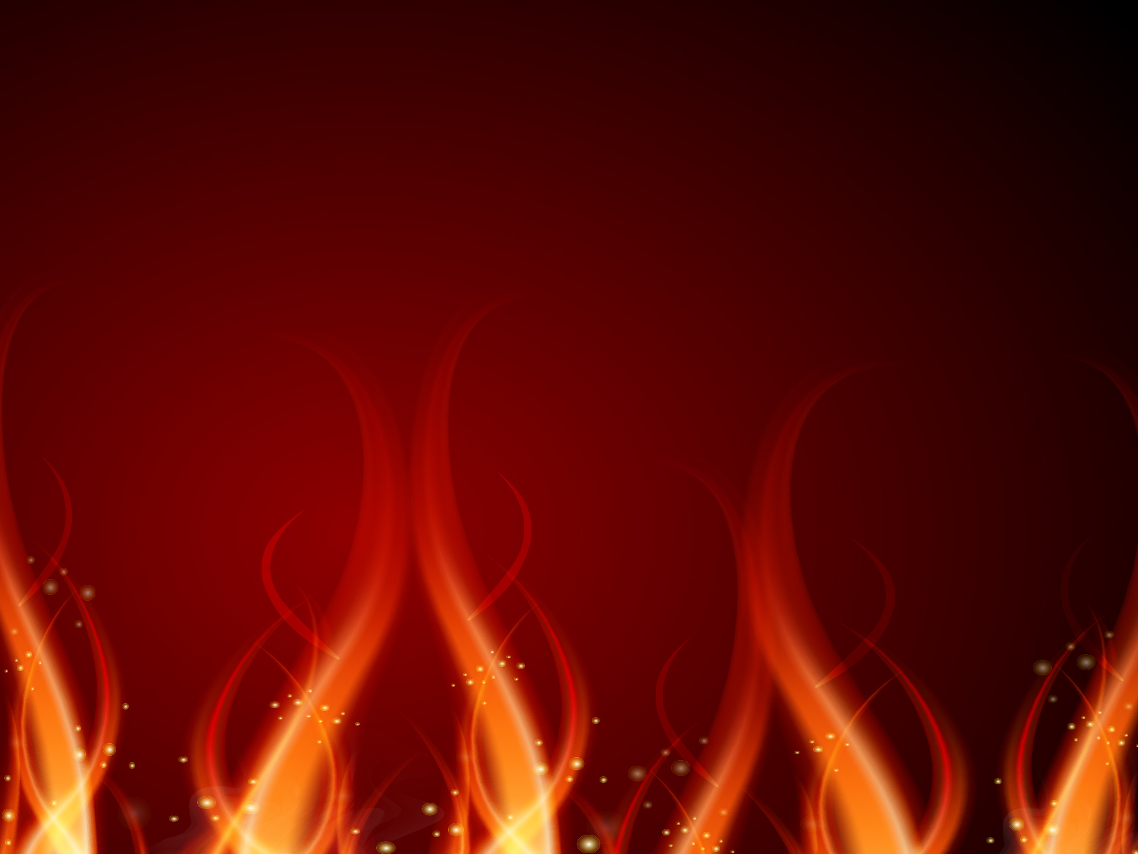 Fire Effect PPT Backgrounds - Abstract, Black, Orange, Red