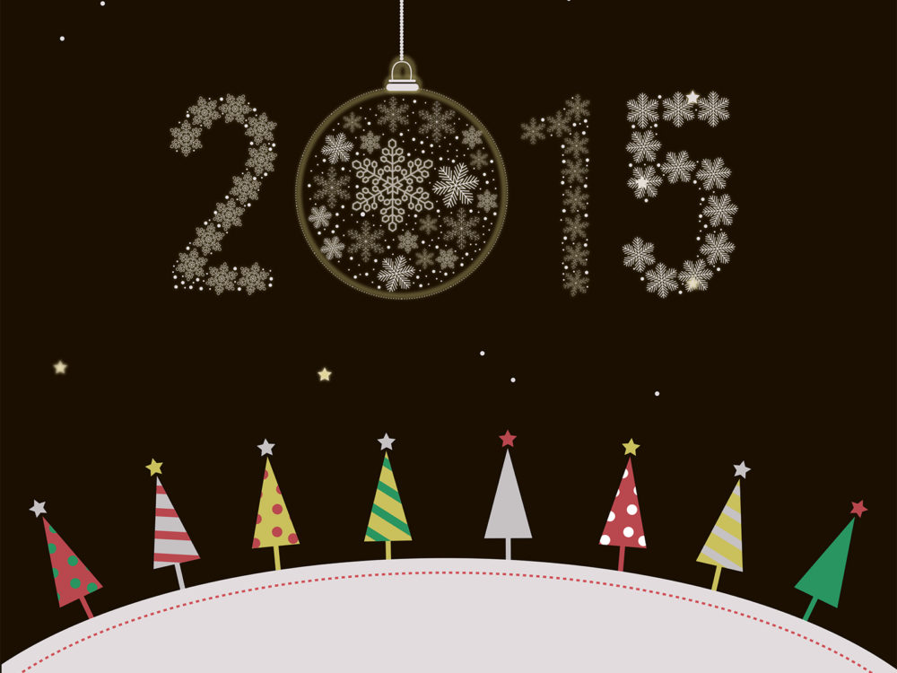 New Year 2015 Christmas PPT Backgrounds