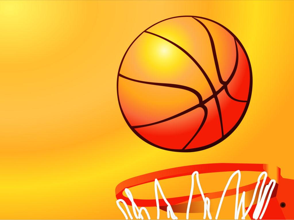 Basketball Hoop Sport Backgrounds Orange Sports Yellow PPT – Basketball Powerpoint Template