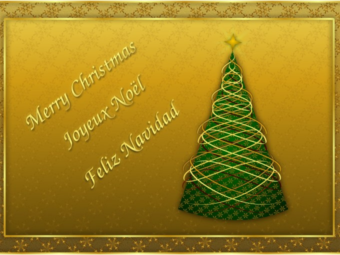 Christmas Card 2015 Holiday PPT Backgrounds