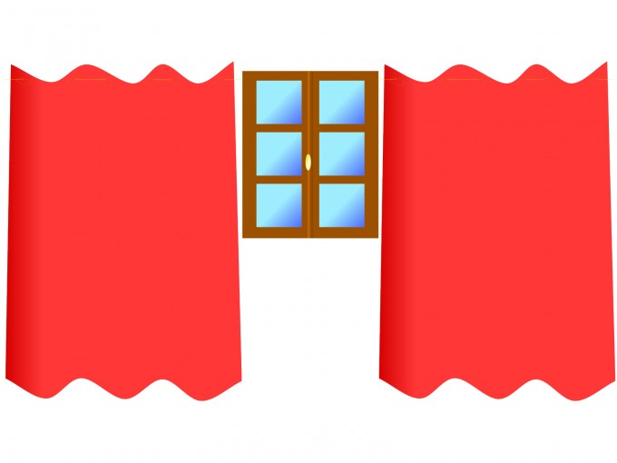 Window Draperies PPT Backgrounds