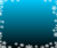 Blue Gradient Snowflake PPT Backgrounds