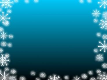 Blue Gradient Snowflake