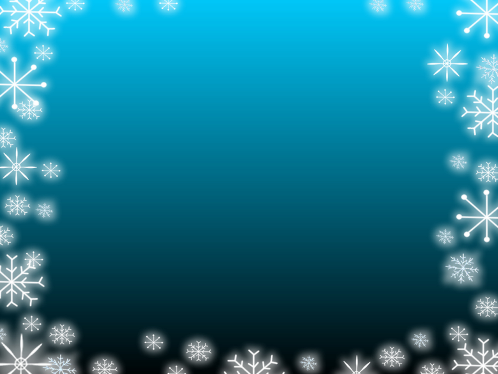 Blue Gradient Snowflake PPT Backgrounds