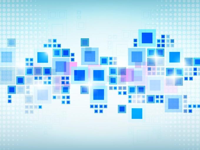 Blue Squares PPT Backgrounds