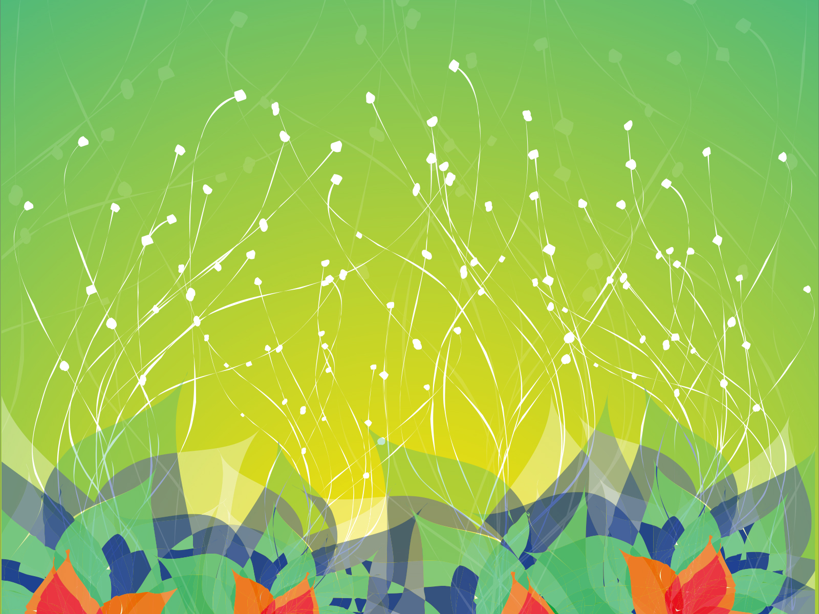 Dream Flowers Powerpoint Backgrounds