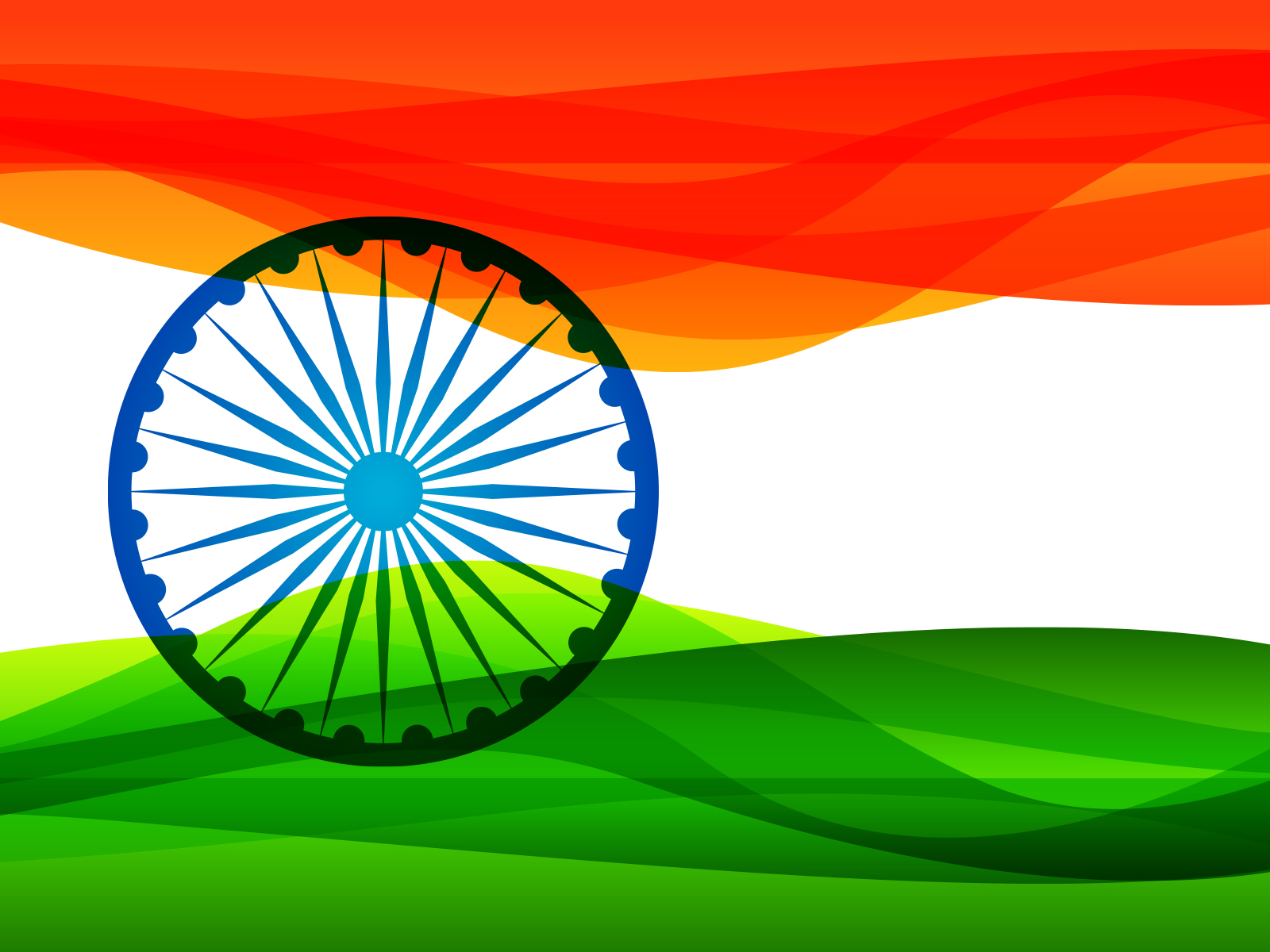 Flag Of India Backgrounds Blue Flag Green Orange