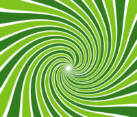 Green Radial Beams PPT Backgrounds
